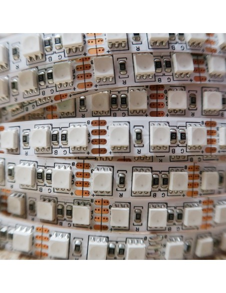 12V high Density RGB LED strip 28.8W/m 120 x SMD4040 / meter - IP00 - 5m roll