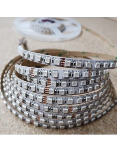 High Density RGB LED strip 24V 14.4W/m 120 x SMD4040 / meter - IP00 - 5m roll
