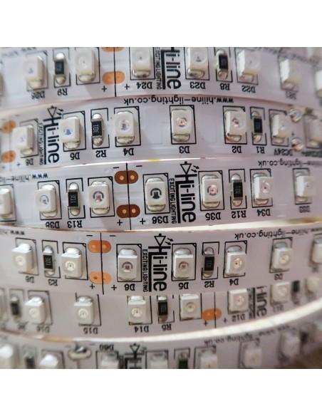 Amber LED Strip 24V 9.6W/m-IP00-10mm wide-5m roll-SMD3528