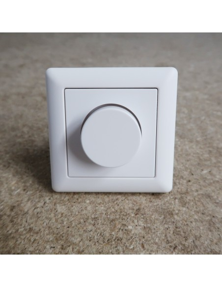 LED Dimmer 1-10V Schalter Drehdimmer Helligkeitsregler Aufbau Einbau weiß
