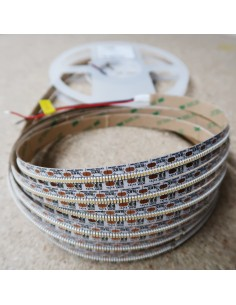 700 LEDs/m 6000K Cool White LED Strip 24V 24 W/m IP00 SMD 2110 CRI90 5m roll