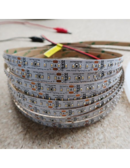 6000K Cool White LED Strip 24V 14.4W/m IP00 SMD 2110 CRI90 180/m 5m roll
