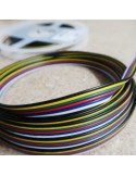 Flat 6 cores RGB+Tunable White LED cable 10 meters ribbon roll