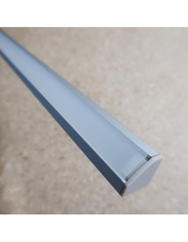 2m Corner LED profile extrusion with milky cover