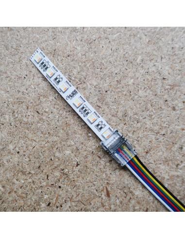 RGB-Tunable White 6 Pin Strip zum Stromanschluss für 12mm IP00 LED Band RGBW-TW