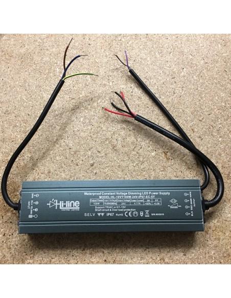Dimmable LED Driver 100W 24V IP67 Hybrid Series (Triac or  0/1-10V)
