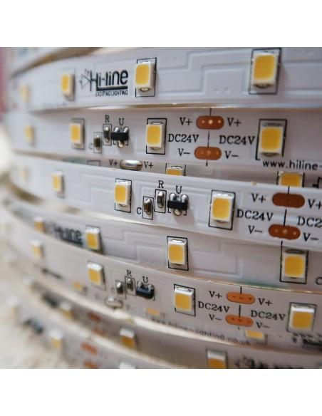 30m rolle kühle weiße 6000K cri 90 LED-Streifen 24V 4,8 w/m 115 lm/w IP00