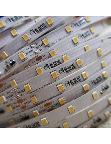 20m roll pure white 5000K cri 90 LED Strip 24V 4.8w/m 115 lm/watt IP00