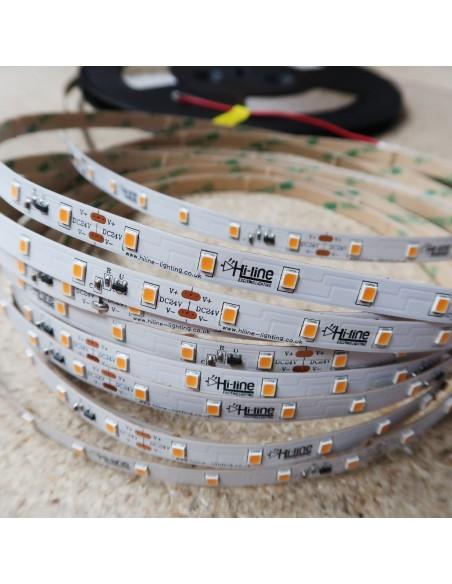 20m roll warm White 3000K cri 90 LED Strip 24V 4.8w/m 115 lm/watt IP00