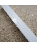 IP67 surface mount LED profile extrusion with milky cover 2m length (17x17mm)