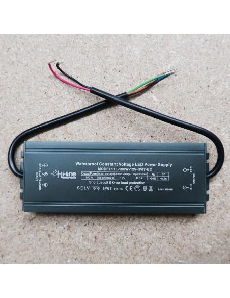 100W 12V IP67 LED-Treiber (EC Series)