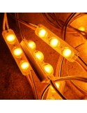 Amber Micro Sign triple backlighting LED module 24V 0.72W IP67 (string of 40)