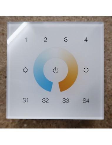 ZigBee tunable white 4 zone touch panel (wall mount)