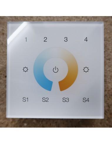 ZigBee tunable white 4 zone touch panel (wall mount)