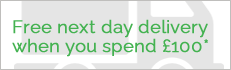Free next day delivery to UK addresses when you spend over £100