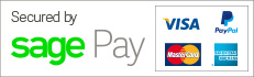 Secure payment via paypal or sagepay