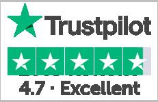 Excellent score on trustpilot